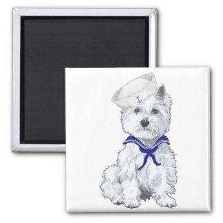 Westhochland-weißes Terrier-Seemann Quadratischer Magnet