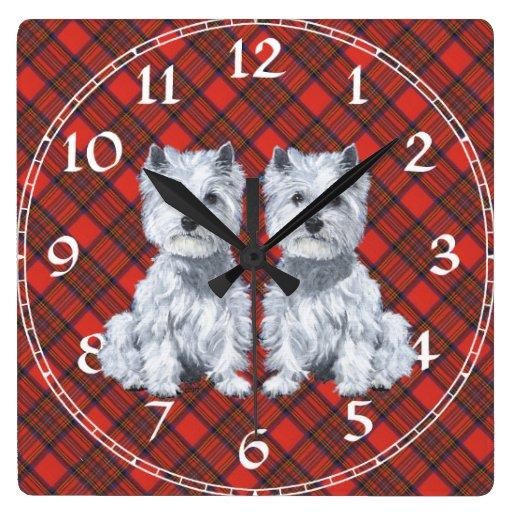 Westhochland-weißes Terrier-Uhr