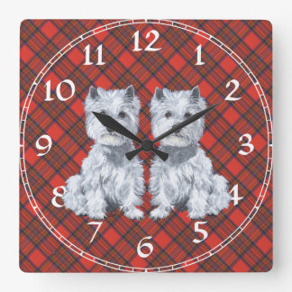 Westhochland-weißes Terrier-Uhr Uhren