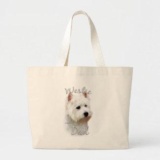 Westhochland-weißes Terrier-Vati 2 Jumbo Stoffbeutel