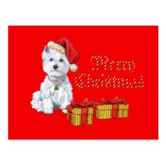 Westhochland-weißes Terrier-Weihnachtsgeschenke Postkarte