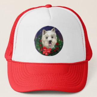 Westhochland-weißes Terrier-Weihnachtsgeschenke Truckerkappe