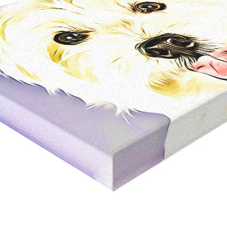 Westhochland weißes Terrier, Westie, Hund, Welpe Leinwanddruck