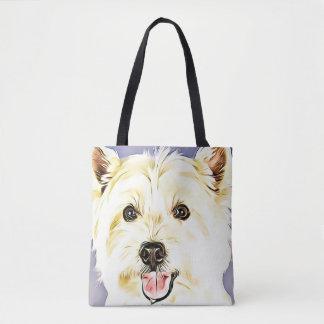 Westhochland weißes Terrier, Westie, Hund, Welpe Tasche
