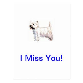Westhochland weißes Terrier Westie Postkarte