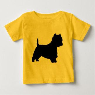 Westie Hund (Schwarzes) Baby T-shirt