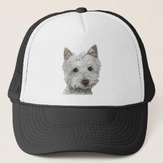 Westie Hund Truckerkappe