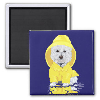 Westie Hundeapril-Duschen Quadratischer Magnet