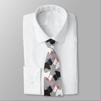 Westie Hundekunst-Krawatte Krawatte