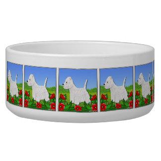 Westie Hundeschüssel mit Westhochland-weißen Terri Hundefutter-Napf