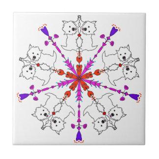 Westie Kaleidoskop Fliese