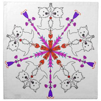 Westie Kaleidoskop Serviette