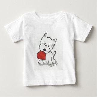 Westie mit Herzen Baby T-shirt