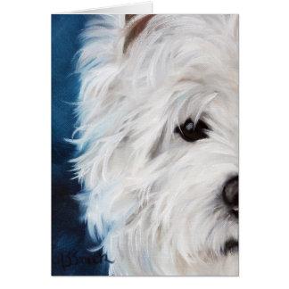 Westie sehen Westhochland-Terrier-Auge Sie Karte