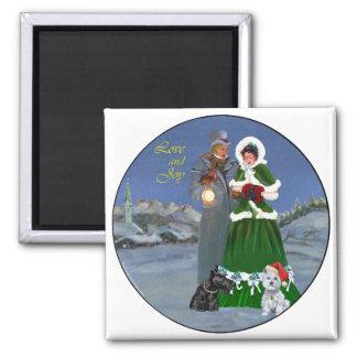 Westie u. Scottie-Weihnachtsliede Kühlschrankmagnet