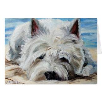 Westie Westhochland-Terrier-Hund - Strand-Gammler Karte