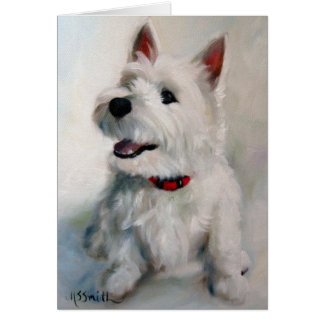 Westie Westhochland-Terrier-HundeSmiley-Karte Karte