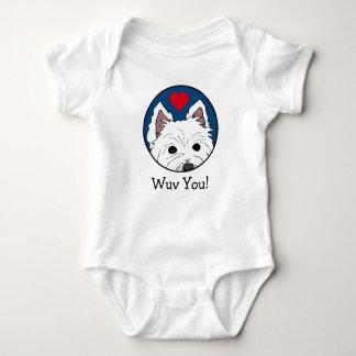 Westie Wuv spähen Sie! Säuglings-Bodysuit Baby Strampler