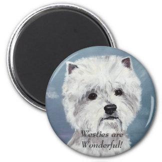 Westies sind wunderbar! - Besonders angefertigt Runder Magnet 5,1 Cm