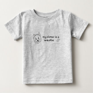 WestieSister Baby T-shirt