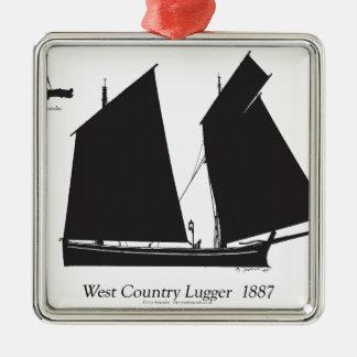 Westland 1887 lugger - tony fernandes silbernes ornament