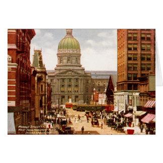 Westmarkt-Straße Indianapolis Indiana Karte