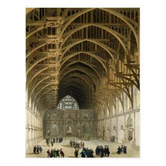 Westminster Hall, graviert durch Kneipe J. Bluck Postkarte
