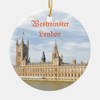 Westminster in London, Großbritannien Rundes Keramik Ornament