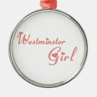 Westminster-Mädchen Silbernes Ornament