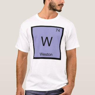 Weston Namenschemie-Element-Periodensystem T-Shirt