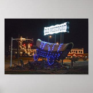 Westport, Missouri, Planwagen-Feiertags-Lichter Poster