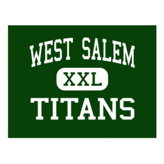Westsalem - Titanen - Highschool - Salem Oregon Postkarte