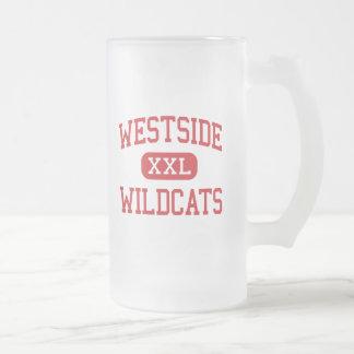 Westside - Wildkatzen - Mitte - Elkhart Indiana Mattglas Bierglas