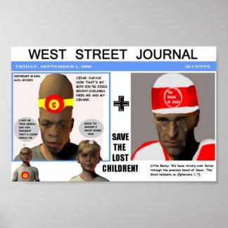 Weststraßen-Zeitschrift Posterdrucke