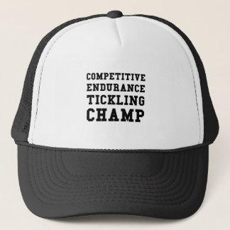 Wettbewerbsfähige Ausdauer, die Champion Tickling Truckerkappe