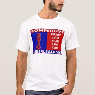 Wettbewerbsfähiges Cheerleading kundenspezifisches T-Shirt