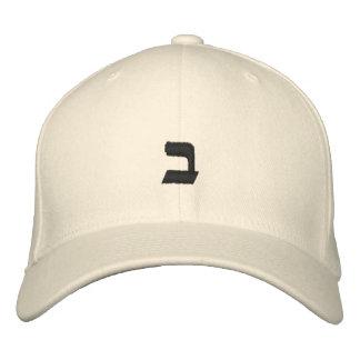Wette - kundengerechtes hebräisches Alphabet Bestickte Kappe