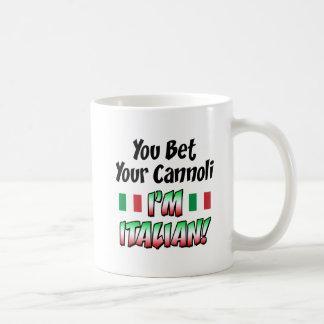 Wetten Sie Ihr Cannoli, das ich italienisch bin Kaffeetasse