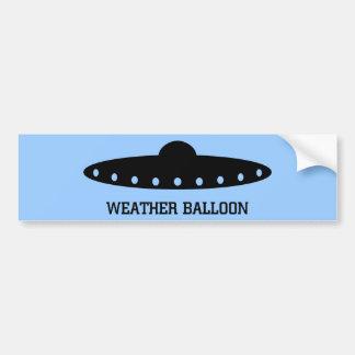 Wetter-Ballon UFO Autoaufkleber