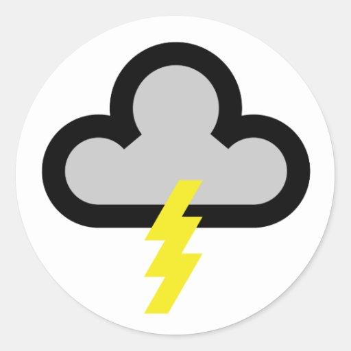 Wetter blitz blitz symbol runder sticker