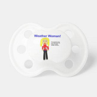 Wetter-FrauSuperhero 0-6 Monate Schnuller