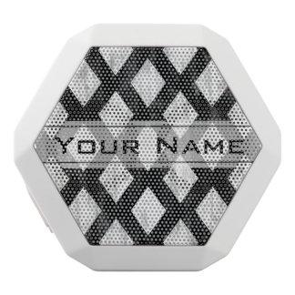 Wetter-nahtloses Muster, Diamanten Schwarzweiss Weiße Bluetooth Lautsprecher