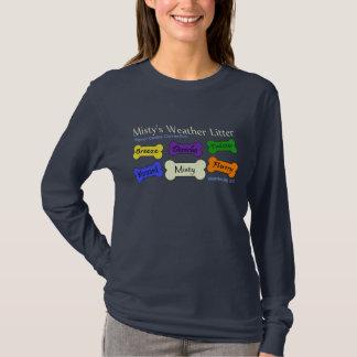 Wetter-Sänfte - die lange Hülse der Marinefrauen T-Shirt