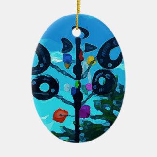 Wetterfahne in Sedona Ovales Keramik Ornament