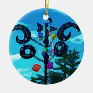 Wetterfahne in Sedona Rundes Keramik Ornament