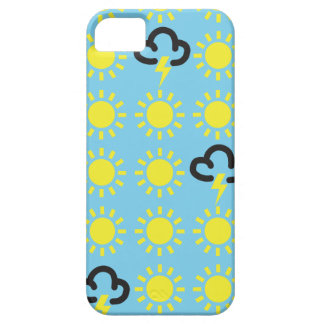 Wettergeschehen: Retro Wettervorhersagesymbole iPhone 5 Schutzhülle
