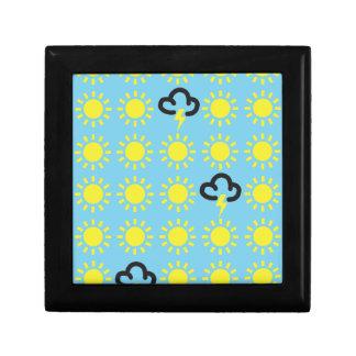 Wettergeschehen: Retro Wettervorhersagesymbole Kleine Quadratische Schatulle