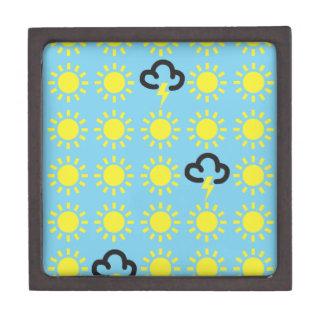 Wettergeschehen: Retro Wettervorhersagesymbole Premium Erinnerungskisten