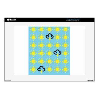 Wettergeschehen: Retro Wettervorhersagesymbole Skins Für 38 Cm Laptops