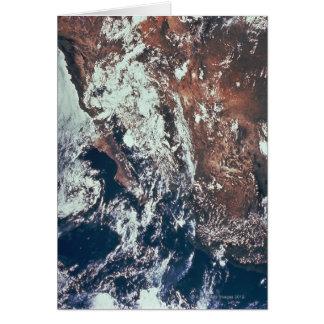 Wettergeschehen über Erde Grußkarte